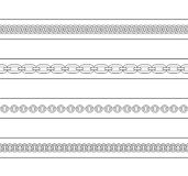 Set of chains web page dividers. Contour lines Stock Images