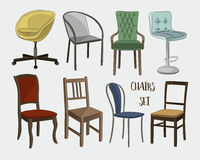 Set of chairs Stock Photo