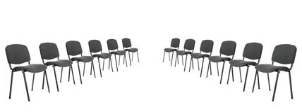 Set of chairs for discussion Stock Photo