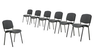 Set of chairs for discussion Stock Photos