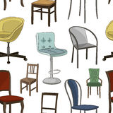 Set of chairs pattern Stock Photo