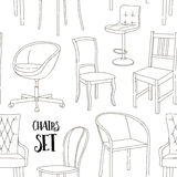 Set of chairs pattern Stock Photos