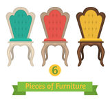 Set of chairs pillows Royalty Free Stock Photos