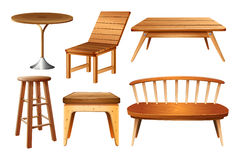 Set of chairs and tables Stock Image