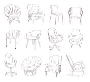 Set with chairs. Royalty Free Stock Image