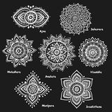 Set of 7 chakras Royalty Free Stock Photo