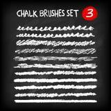 Set of chalk brushes Stock Image