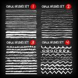 Set of chalk brushes stock illustration