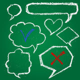 Set of chalk painted speech bubbles Stock Image