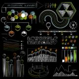 Set of chalkboard infographics and business icons. Set of chalkboard infographics and business icons Royalty Free Stock Photos