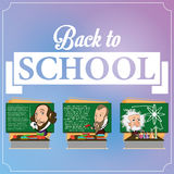 Set Of Chalkboards With Characters Stock Photography