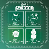 Set Of Chalkboards Draws With Space For Text Royalty Free Stock Photo