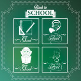 Set Of Chalkboards Draws With Space For Text Royalty Free Stock Image