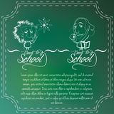 Set Of Chalkboards Draws With Space For Text Stock Photo