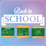 Set Of Chalkboards With Draws Royalty Free Stock Image