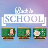 Set Chalkboards Z charakterami ilustracja wektor