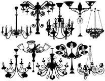 Set chandeliers Stock Photo