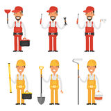 Set character builder and plumber Stock Photography
