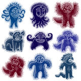 Set of character monsters vector flat illustration, collection o Royalty Free Stock Photos