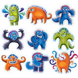 Set of character monsters vector flat illustration, collection o Royalty Free Stock Photography