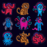 Set of character monsters vector illustration Stock Photography