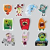Set of characters Royalty Free Stock Photography