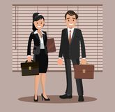 A set of business couple symbols of a man and a woman. Stock Photos