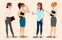 A set of characters business people, meeting, training, teamwork. Office personnel. Vector illustration. A set of characters business people, meeting, training Royalty Free Stock Image