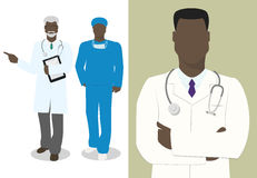 Set of characters doctor male doctor vector vector illustration