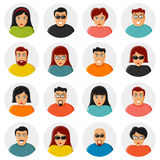 Set of characters. Flat icons Stock Images