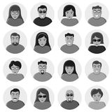 Set of characters. Flat icons. Stock Photography