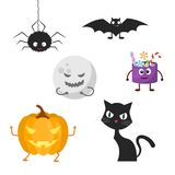 Set of characters for Halloween. Stock Photo