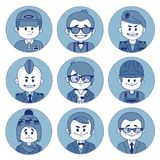 Set of characters. Icons of occupations. Royalty Free Stock Images