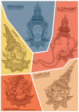 Set characters of Ramayana Stock Photo