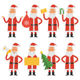 Set characters Santa Claus Stock Images