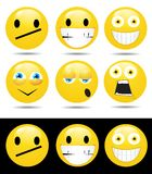 Set of characters of yellow emotions Stock Photography