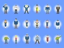 Set charakteru piksel Obrazy Stock