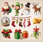 Set charaktery i dekoracje Zdjęcia Stock