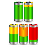 A set of charged batteries Stock Photography