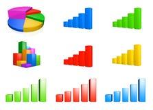Set of Chart Graphics Royalty Free Stock Image