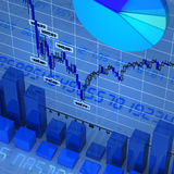 Set of charts. Background made of different types of charts Royalty Free Stock Images