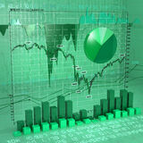 Set of charts. Background made of different types of charts Stock Image