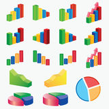 Set of charts. Stock Photos