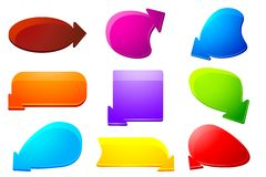 Set of Chat Bubble Royalty Free Stock Images