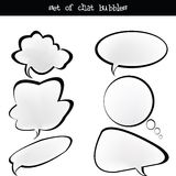 Set of chat bubbles Stock Photo