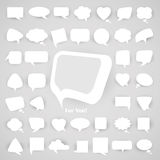 Set of chat bubbles. Set of white chat bubbles, this illustration may be useful as designer work Stock Photo