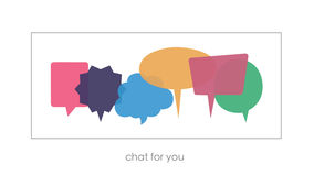 Set of Chat Clouds. Chat for you. Motivating picture. Royalty Free Stock Photography