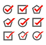 Set of check mark icons Stock Photo