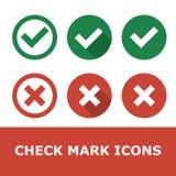 Set of check marks royalty free illustration