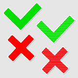 Set of check marks. . Royalty Free Stock Photo